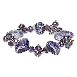 Stretch Bracelets Purples / Lavenders Just for Fun