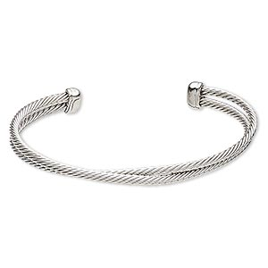 Cuff Bracelets Silver Colored Everyday Jewelry