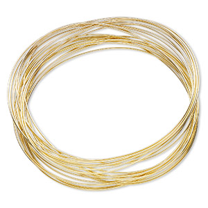 Memory Wire Gold Plated/Finished Gold Colored