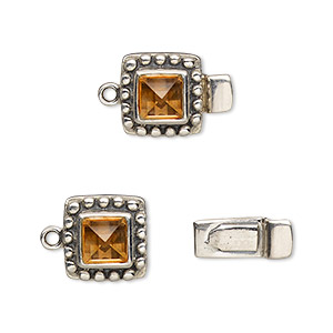 Box (Tab) Clasp Sterling Silver Yellows