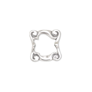 Bead Frames Sterling Silver Silver Colored
