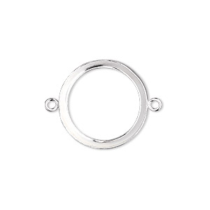 Link, Fine Silver, 19mm Open-back Round 18mm Round Bezel Cup Setting. Sold Individually