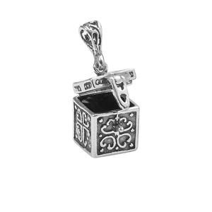 Pendant sterling silver 13x12mm rectangle square prayer box sold pendant sterling silver 13x12mm rectangle square prayer box sold individually aloadofball Gallery