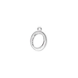 Drop, Fine Silver, 11x9mm Oval 10x8mm Oval Bezel Setting. Sold Per Pkg 2