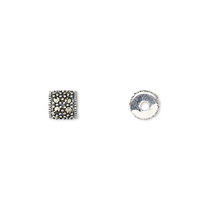 Beads Marcasite Silver Colored