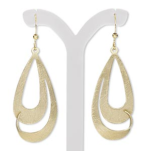 Fishhook Earrings Gold Plated/Finished Gold Colored