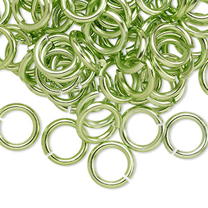 Open Jumprings Aluminum Greens