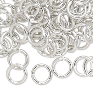 Jumpring, Anodized Aluminum, Silver, 10mm Round, 6.8mm Inside Diameter, 14 Gauge. Sold Per Pkg 100