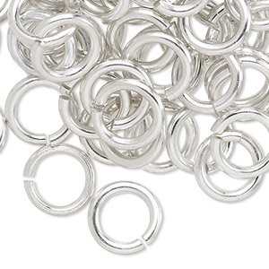 Open Jump Rings Aluminum Silver Colored