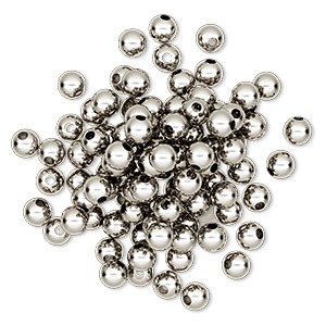 Beads Nickel Silver Colored