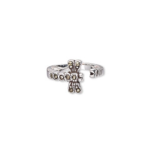 Toe Rings Marcasite Silver Colored