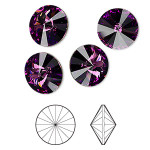 Point-Back Swarovski Amethyst