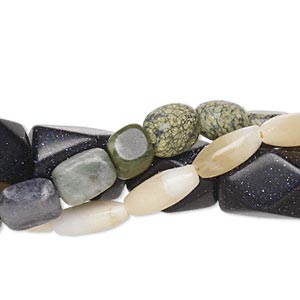 Bead Mix, Mixed Gemstones (natural / Dyed / Manmade), Mixed Colors, 6-43mm Mixed Shape, C Grade. Sold Per Pkg (3) 15-inch Strands