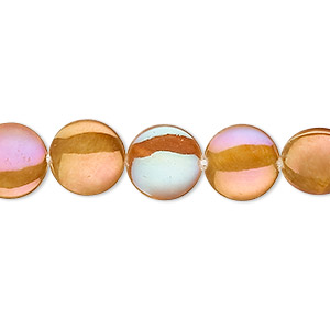 Beads Mother-Of-Pearl Gold Colored