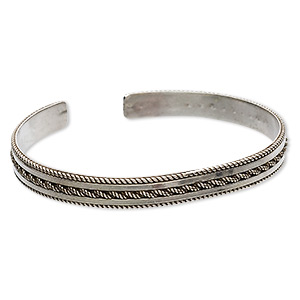 Cuff Bracelets Sterling Silver Silver Colored