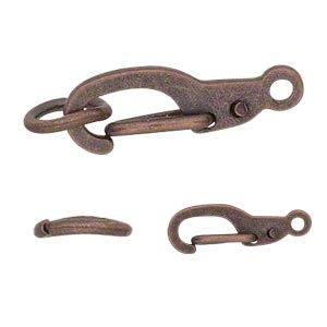 Hinged Clip Copper Plated/Finished Copper Colored