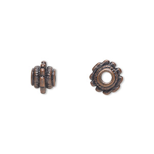 """Bead, Antique Copper-finished """"pewter"""" (zinc-based Alloy), 8mm Beaded Round. Sold Per Pkg 24"""