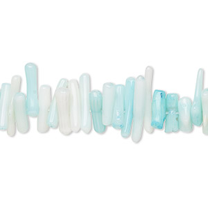 Bead, Coral (dyed), Light Blue, 7x1mm-18x3mm Cupolini, Mohs Hardness 3-1/2 4. Sold Per 16-inch Strand