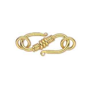S Hook Gold Plated/Finished Gold Colored
