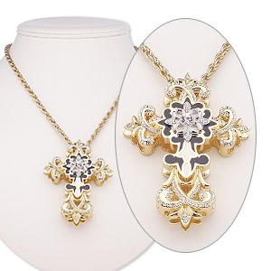 Black enamel on white glass pendant and earrings