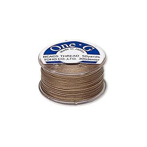 One-G Beading Nylon Thread Sand Ash by Toho