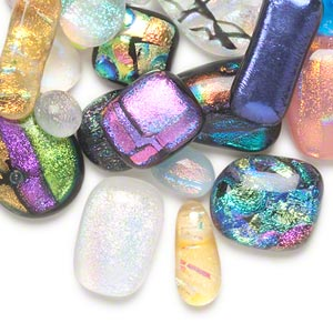 Cabochons Dichroic Mixed Colors