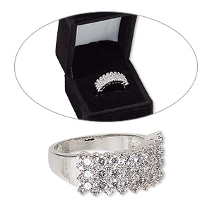 Finger Rings Cubic Zirconia Clear