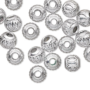 Beads Aluminum Silver Colored