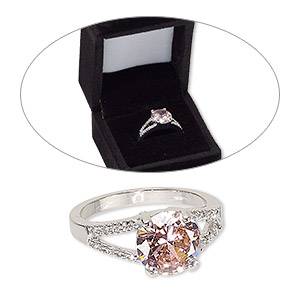 Finger Rings Cubic Zirconia Pinks