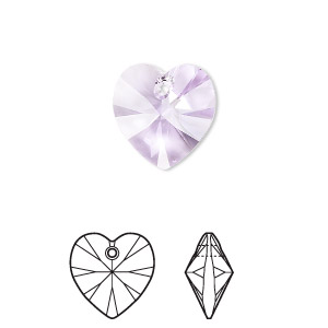 6 pcs 10mm  Swarovski XILION Heart Pendant Crystal 6228 6202 LIGHT SAPPHIRE AB