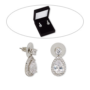 Earstud Earrings Clear Classic Collection