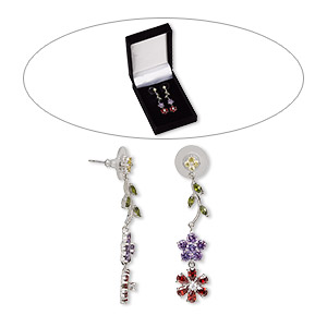 Earstud Earrings Multi-colored Classic Collection