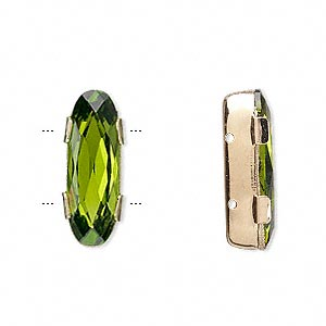 Spacer Bars Swarovski Olivine