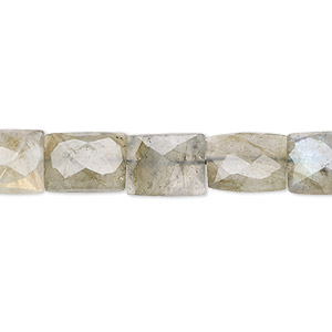Bead, Labradorite (natural), 9x7mm Faceted Flat Rectangle, C Grade, Mohs Hardness 6 6-1/2. Sold Per 16-inch Strand 7909GS