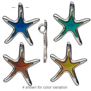 Charms Imitation rhodium-plated Multi-colored