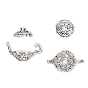 Bead Cap Sets Sterling Silver Silver Colored