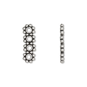 Spacer Bars Sterling Silver Silver Colored