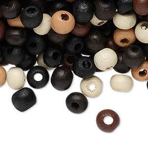 Bead Mix, Painted Wood, Mixed Colors, 6-7mm Irregular Round. Sold Per 90-gram Pkg, Approximately 1,100 Beads