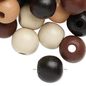 Bead Mix, Painted Wood, Mixed Colors, 13-14mm Irregular Round. Sold Per 400-gram Pkg, Approximately 550 Beads