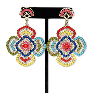 Earstud Earrings Multi-colored Everyday Jewelry