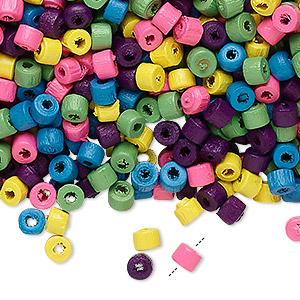 Bead Mix, Wood, Mixed Colors, 4x3mm Heishi. Sold Per 400-gram Pkg, Approximately 23,000 Beads