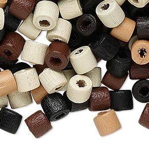 Bead Mix, Wood, Mixed Colors, 7x6mm Heishi. Sold Per 90-gram Pkg, Approximately 760 Beads
