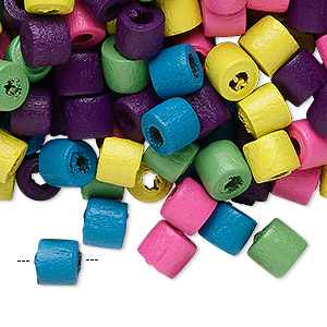 Bead Mix, Wood, Mixed Colors, 7x6mm Heishi. Sold Per 400-gram Pkg, Approximately 3,800 Beads