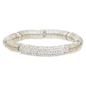 Stretch Bracelets Silver Colored Everyday Jewelry