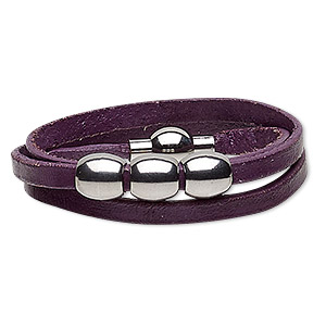 Other Bracelet Styles Leather Purples / Lavenders