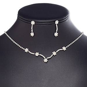 5 Pieces Hematite beads Chains necklace Metal brass round shape Charm Pendant Paved Crystal Rhinestone Jewelry necklaces for women NK315