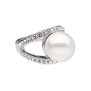 Finger Rings Imitation rhodium-finished Whites