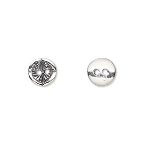 Buttons Sterling Silver Silver Colored