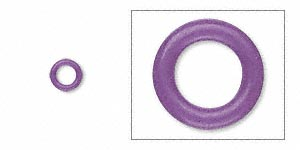 Closed Jumprings Rubber Purples / Lavenders