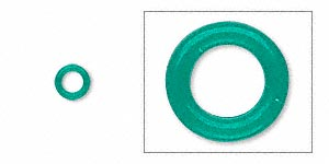 Soldered Closed Jump Rings Rubber Greens